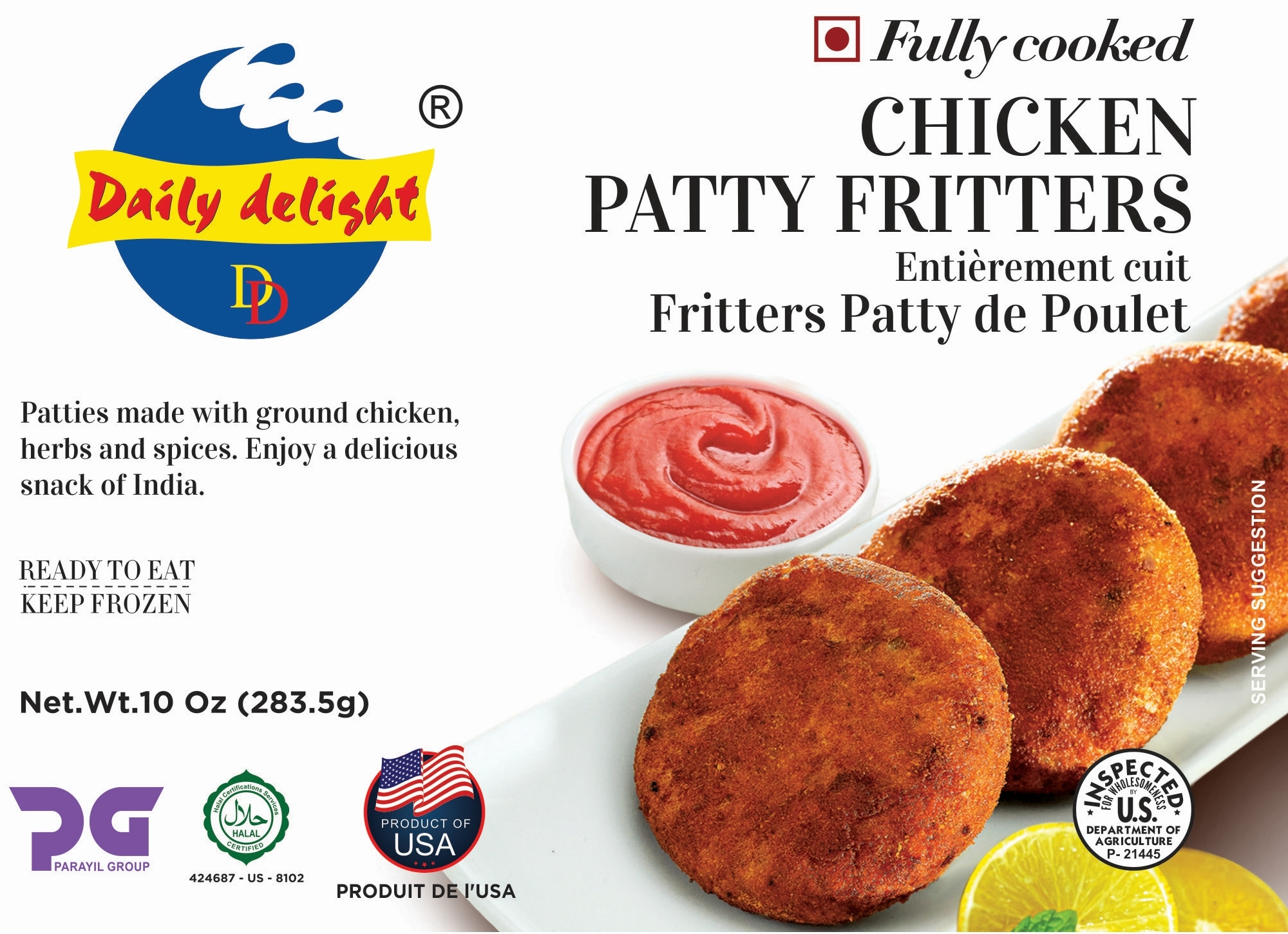 Daily Delight Chicken Patty Fritters