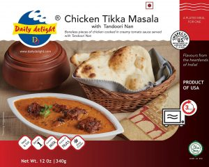 Daily Delight Chicken Tikka Masala with Tandoori Nan