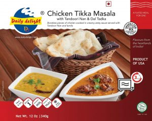 Daily Delight Chicken Tikka Masala with Tandoori Nan and Dal Tadka