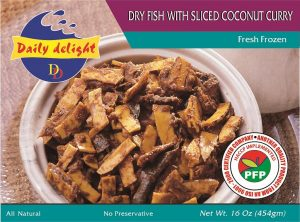 Daily Delight Dry Fish with Sliced Coconut Curry