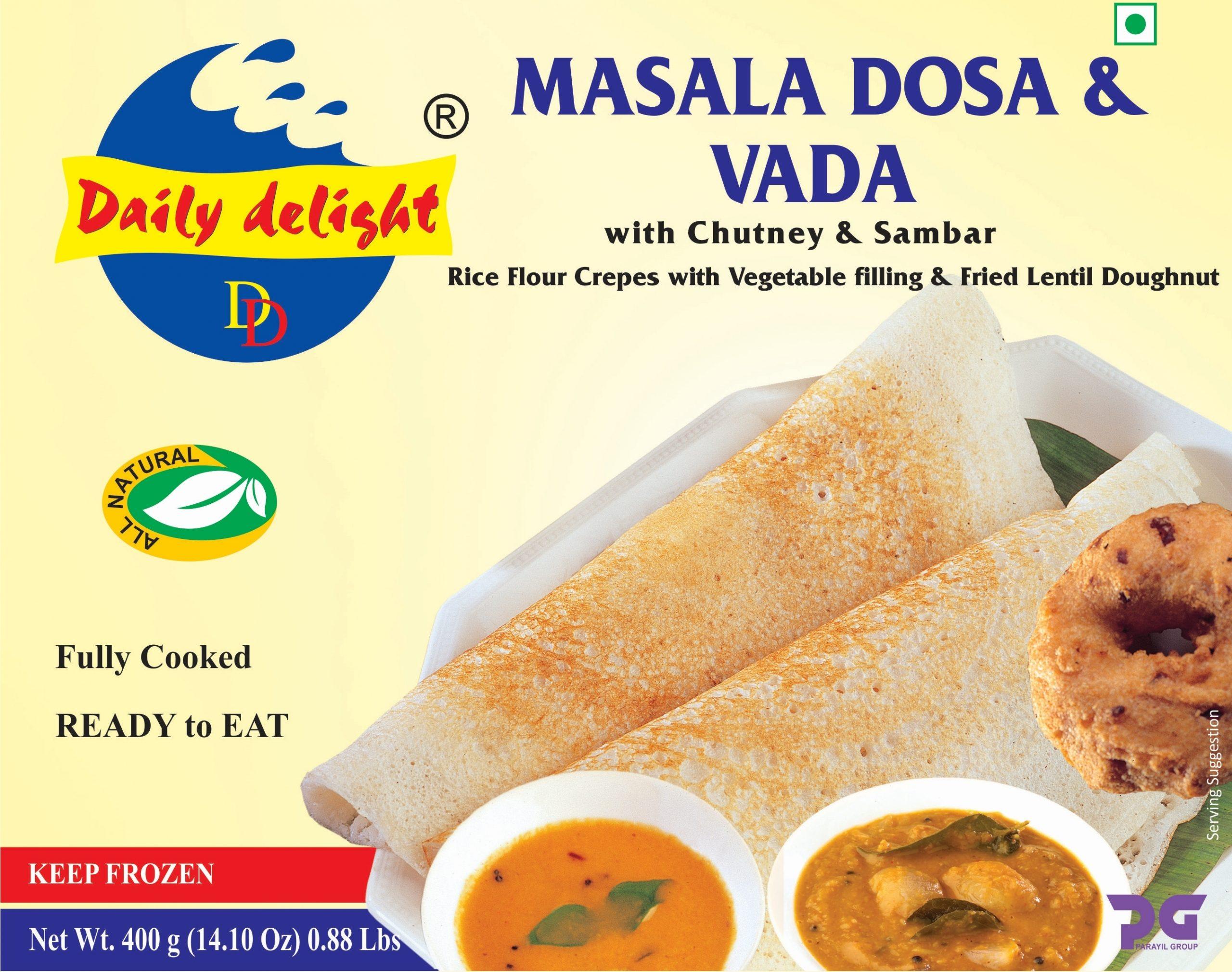 Daily Delight Masala Dosa and Vada