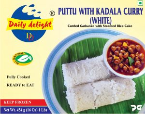 Daily Delight Puttu With Kadala Curry (White)
