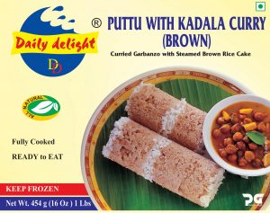 Daily Delight Puttu with Kadala Curry (Brown)