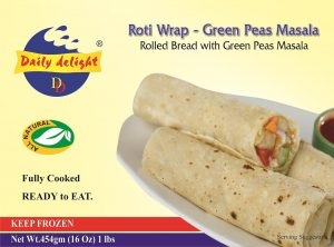 Daily Delight Roti Wrap Green Peas Masala