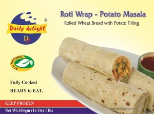 Daily Delight Roti Wrap Potato Masala