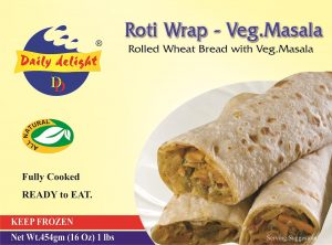 Daily Delight Roti Wrap Vegetable Masala