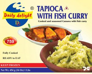 Daily Delight Tapioca with Fish Curry