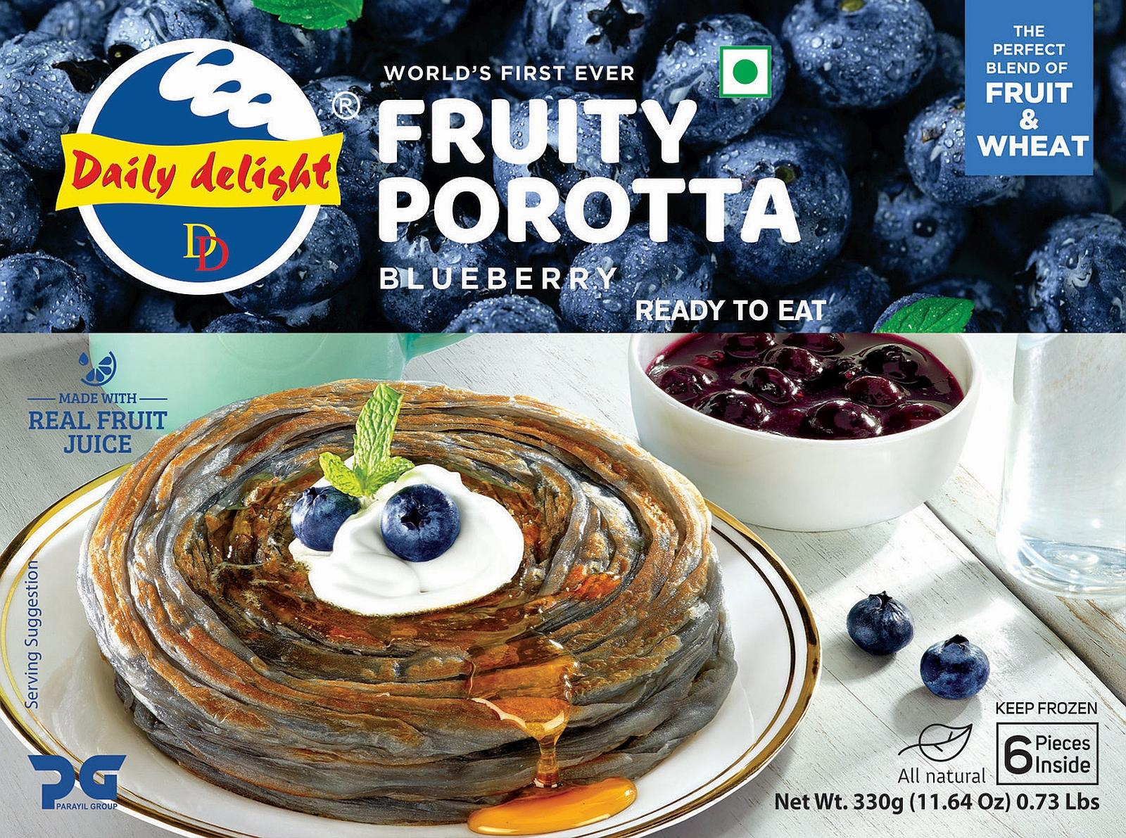 Daily Delight Blueberry Porotta