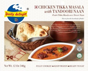 Daily Delight Chicken Tikka Masala with Tandoori Naan
