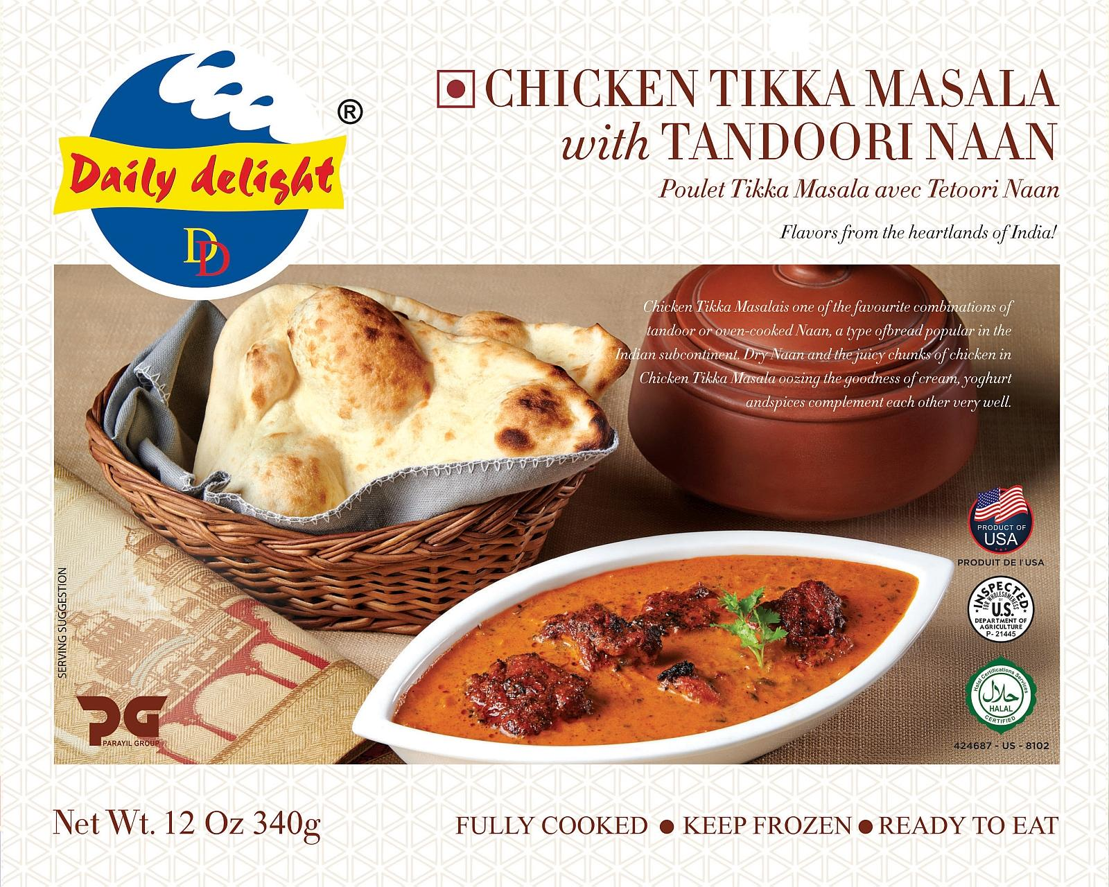Daily Delight Chicken Tikka Masala with Tandoori Naan