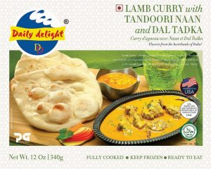 Daily Delight Lamb Curry with Tandoori Naan and Dal Tadka
