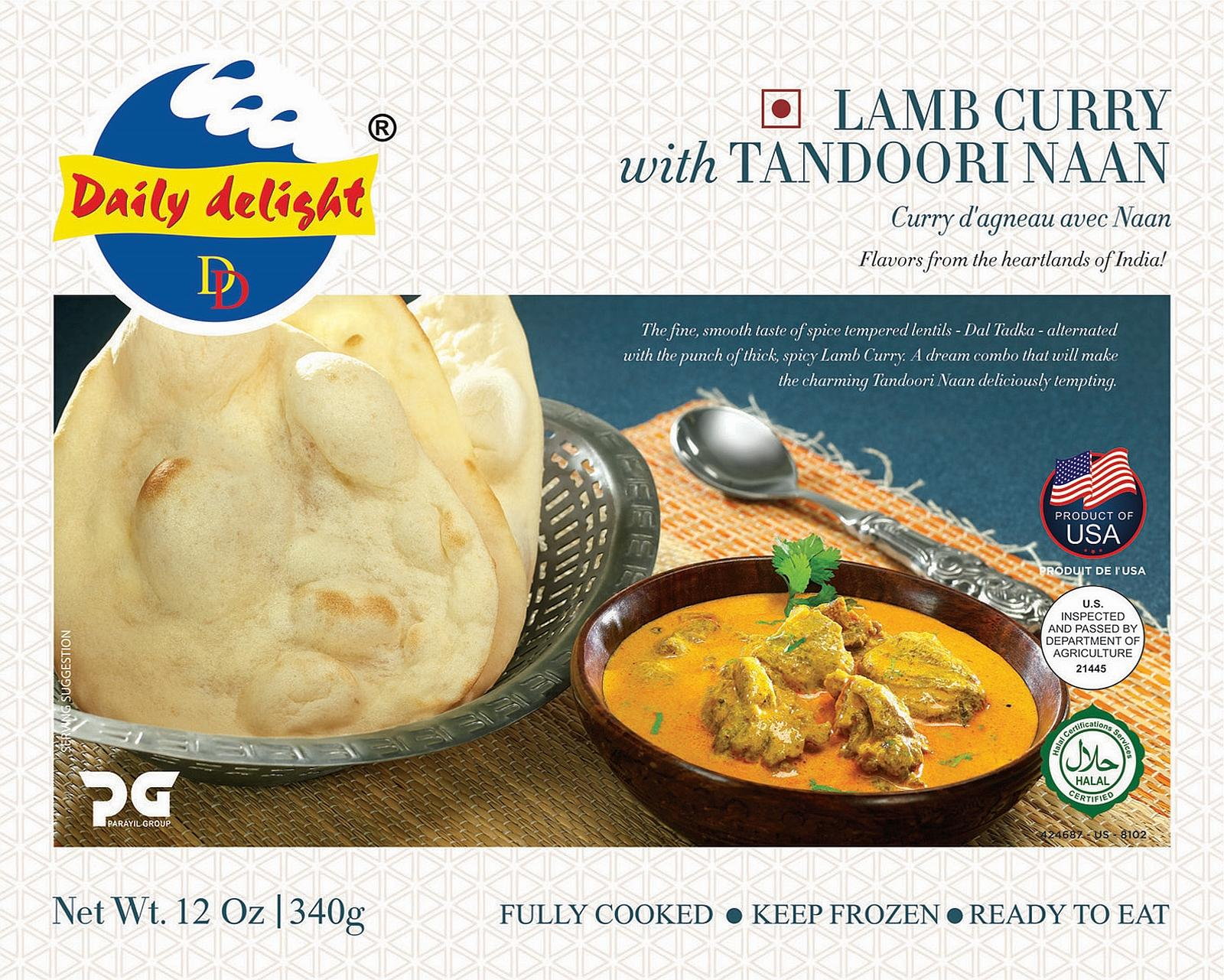Daily Delight Lamb Curry with Tandoori Naan
