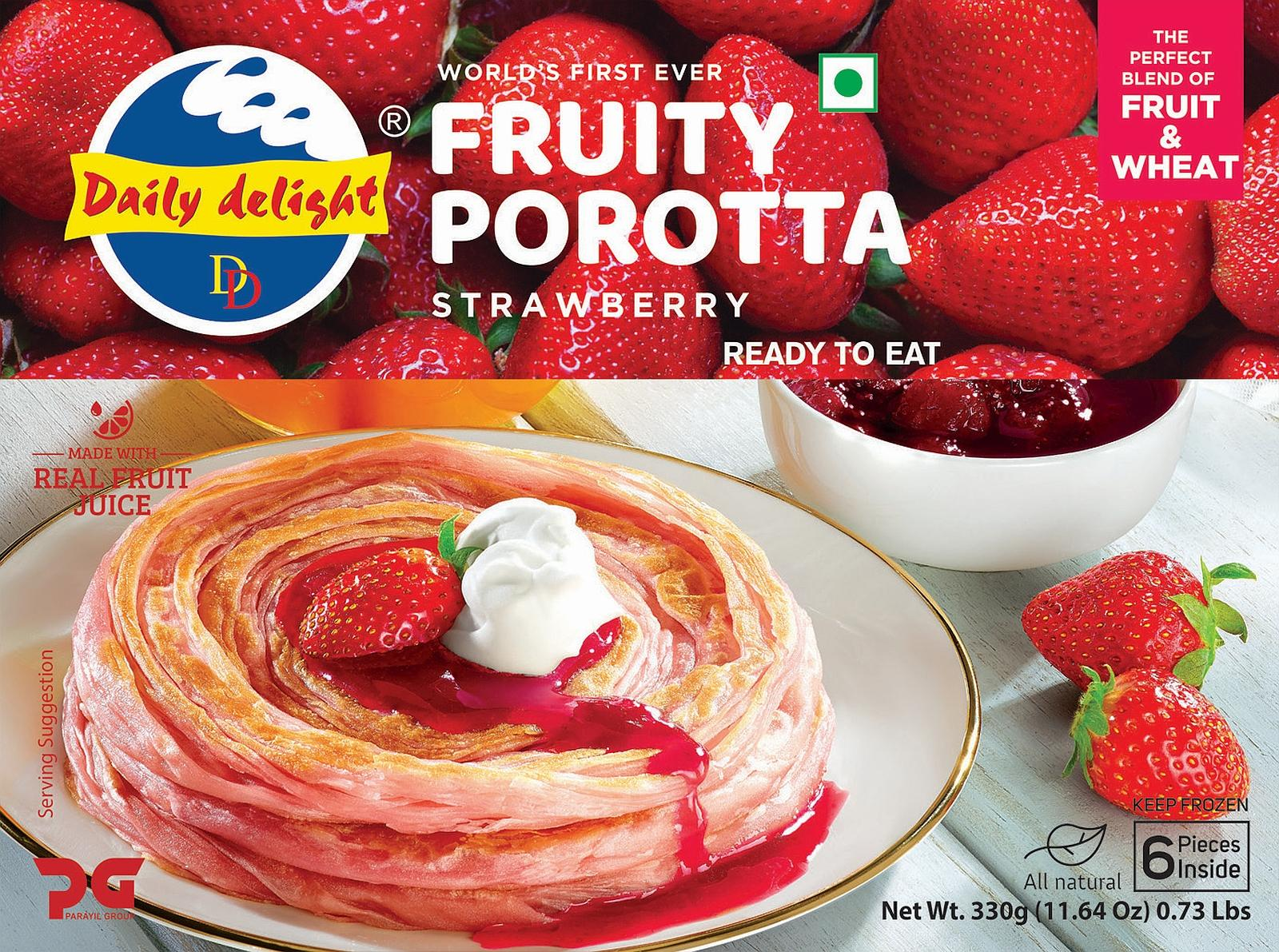 Daily Delight Strawberry Porotta