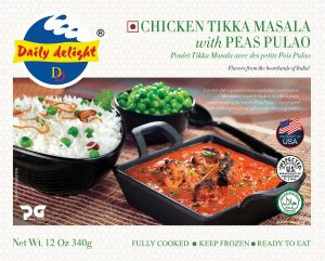 Daily Delight Chicken Tikka Masala with Peas Pulao