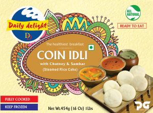 Daily Delight Coin Idli