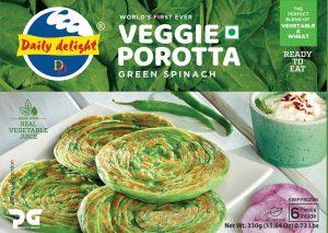Daily Delight Green Spinach Porotta
