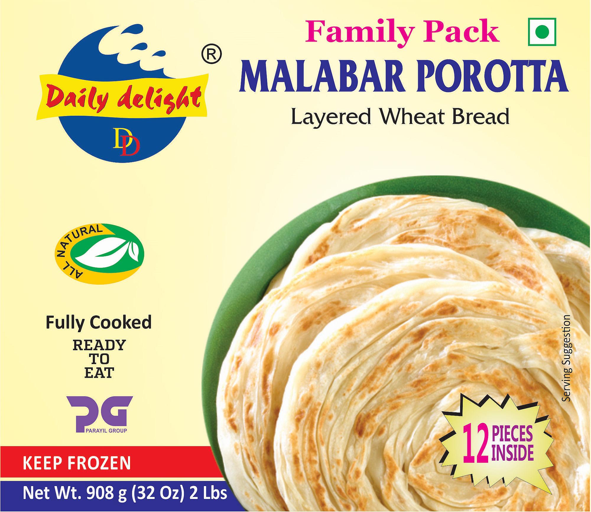 Daily Delight Malabar Porotta Family Pack 908 Gms