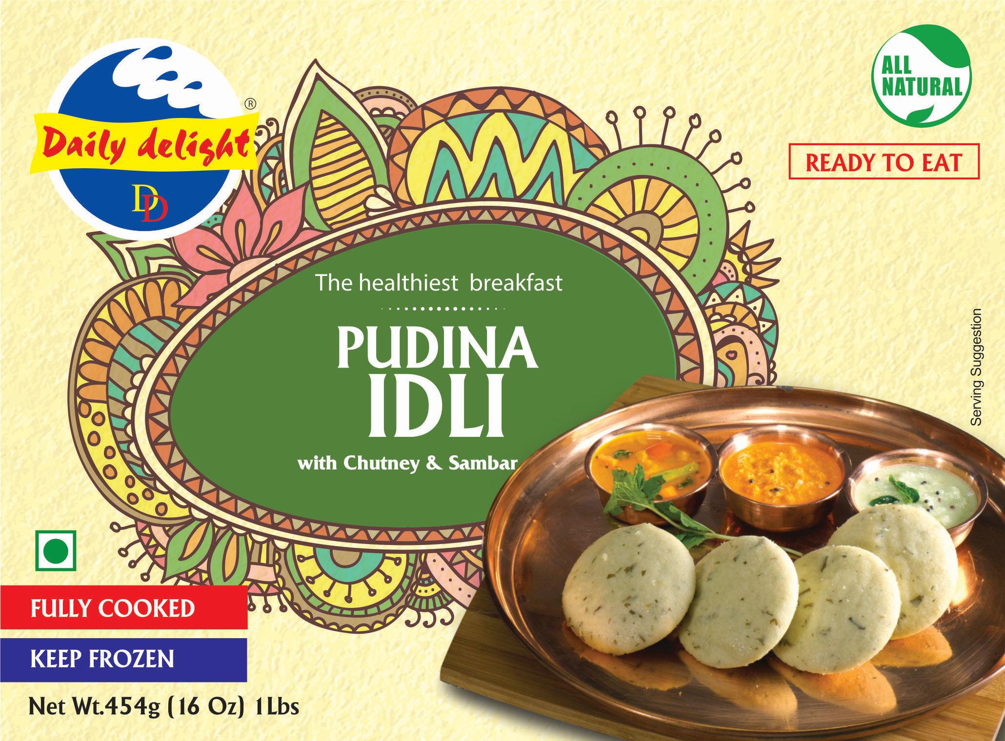 Daily Delight Pudina Idli