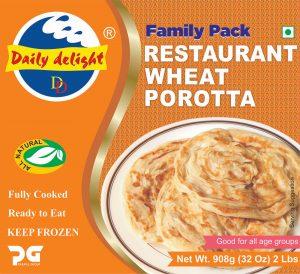 Daily Delight Restaurant Wheat Porotta 908 Gms