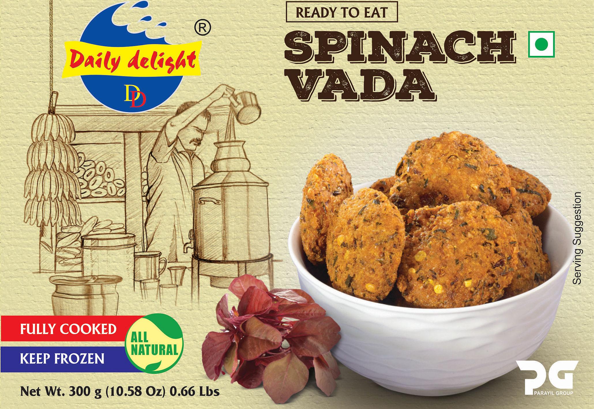 Daily Delight Spinach Vada