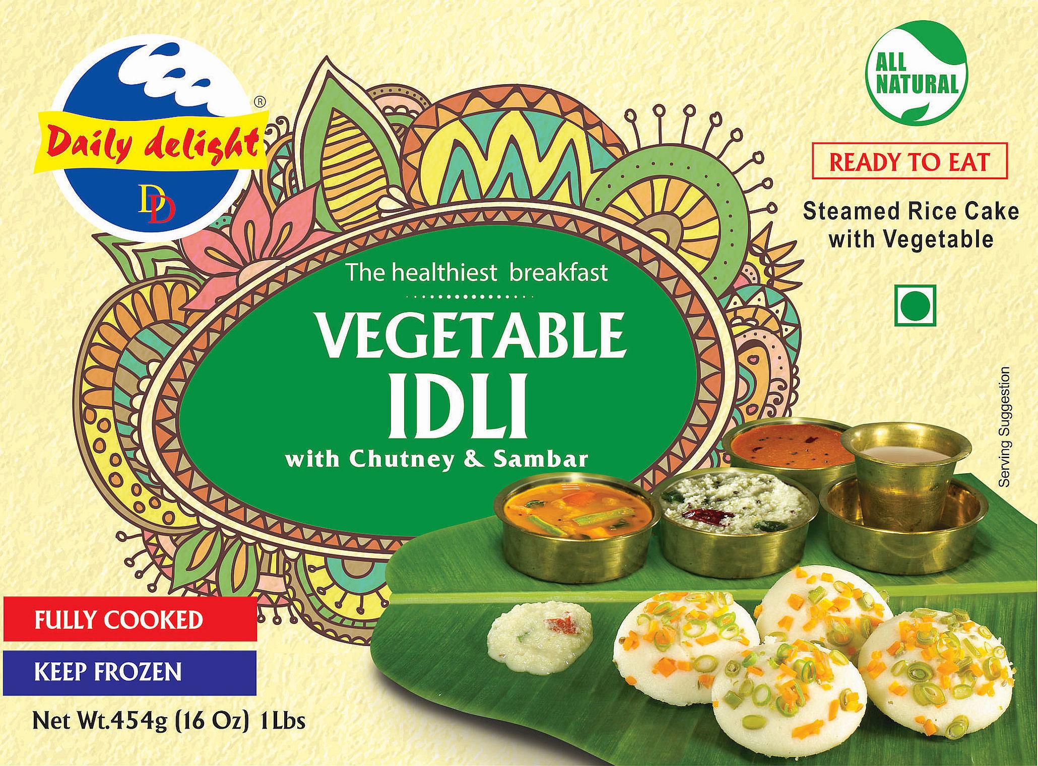 Daily Delight Vegetable Idli
