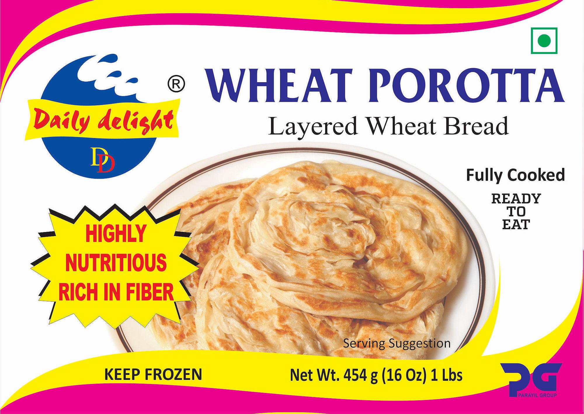 Daily Delight Wheat Porotta 454 Gms